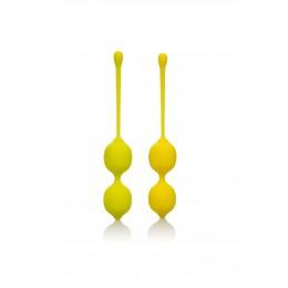 CalExotics Kegel Training Set Lemon вагінальні кульки, 9.5х3.25 см