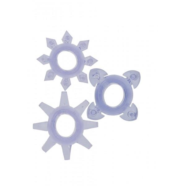 Ерекційні кільця Tickle C-rings Purple