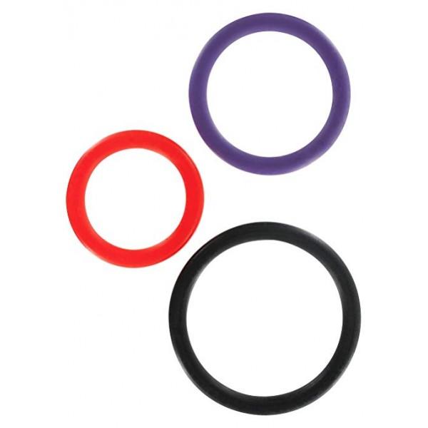Toy Joy Triple Rings Multicolor 3Pcs ерекціонніе кільця