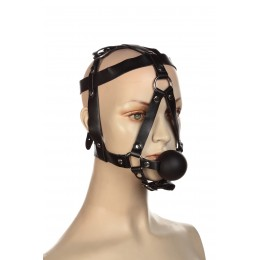 Збруя на голову з кляпом кулькою