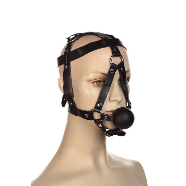 Збруя на голову з кляпом кульків