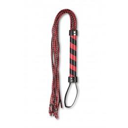 Батіг багатохвостівка з чорно-червоним плетінням