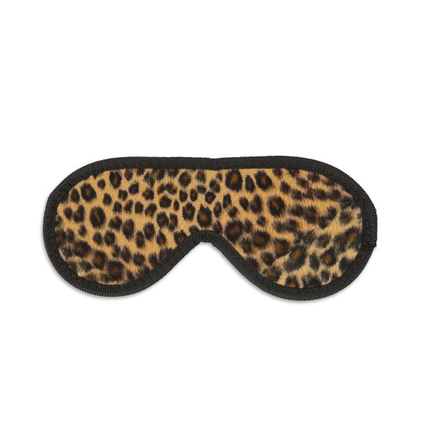 Закрита маска на очі з леопардовим Хутро