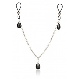 Прикраса на соски Nonpiercing Nipple Chain Jewelry, онікс