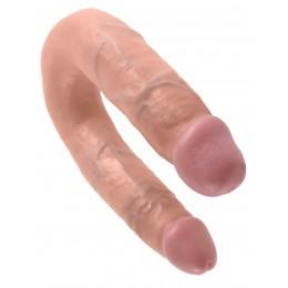 Подвійний фалоімітатор Pipedream Cock U-shape Double Trouble M (34х3,3 см, тілесний)