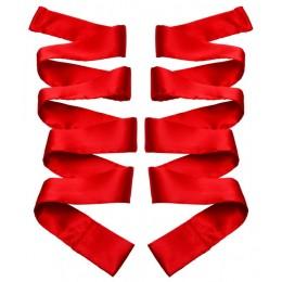 GreyGasms Scarlet Red Satin Sash Set - атласні стрічки для фіксації