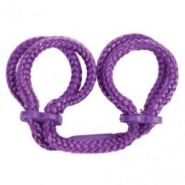 Наручники из японского шелка Japanese Silk Love Rope Wrist Cuffs, фиолетовые