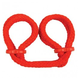 Наручники з японського шовку Japanese Silk Love Rope Wrist Cuffs, червоні
