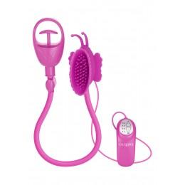 Вибропомпа для клитора Butterfly Clitoral Pump Pink, 11х6 см, розовая