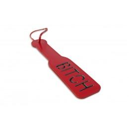 Шлепалка, з рельєфним написом BITCH, червона