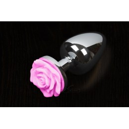 Пікантні Штучки Rose Small - маленька анальна пробка, 6х3 см, рожева