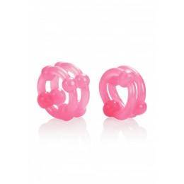 Ерекційні кільця Island Rings Double Stacker, рожеві