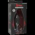 "Doc Johnson Kink Lube Luge Premium Silicone Plug 6 ""- Силіконова анальна пробка, 14х5 см, чорний"