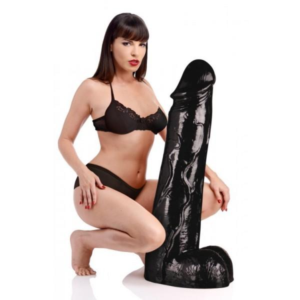 Величезне метровий фалоімітатор Master Cock Moby Huge 3 Foot Tall Super Dildo (90х20,6 см, чорний)