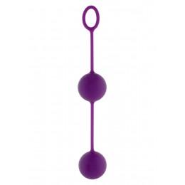 Вагинальные шарики Toy Joy Rock&Roll, 3,5см, пурпурные