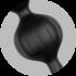 Satisfyer Beads Silicone black - анальные шарики, 20.5х3.4 см, черный