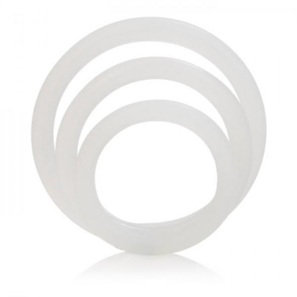 Эрекционные кольца Silicone Support Rings, белый